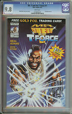 Mr. T & the T-Force #1 CGC 9.8 Neal Adams story-cover-art Gold foil card A-Team