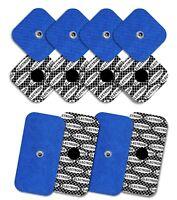 Elektroden für Compex mit Silber Muster (8 x 50x50 mm + 4 x 50x100mm mit 1 SNAP)