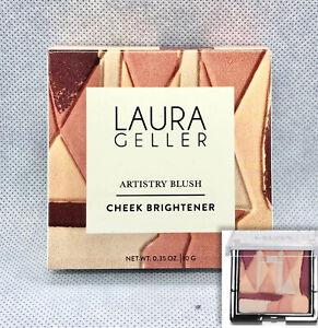 Laura Geller Artistry Blush Cheek Brightener Highlighter Peach Plum Pink Full Sz