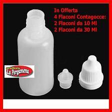 Flaconi bottiglie sigaretta elettronica contagocce 2X 30 ml + 10 ml