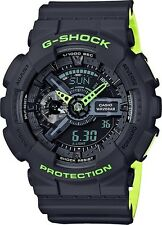 BRAND NEW CASIO G-SHOCK GA110LN-8A GRAY/NEON GREEN LAYERED ANA-DIGITAL WATCH