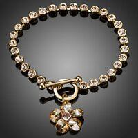DYBERG//KERN LOUISE EARPOST EARRINGS GOLD//CLEAR SWAROVSKI CRYSTALS 10175  RRP £40
