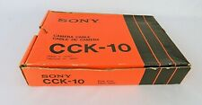 SONY MODEL CCK-10 BETACAM 14 PIN CAMERA CABLE FEM & MASC END BOXED M82