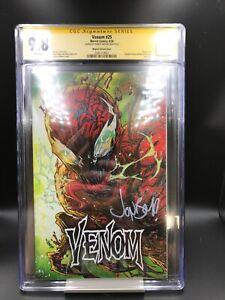 CGC SS 9.8 SS Cates Jonboy Meyers Venom #25 Variant 1st Virus Spider-Man Carnage