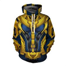 Marvel Comics Avengers Infinity War Thanos Outfit Full Length Zipper Hoodie