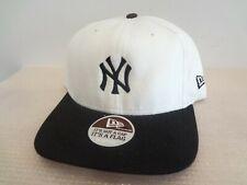 Vintage MLB New York Yankees Snapback Hat 90s New Era OSFA NEW White/Black