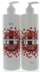 Hyaluron Haarshampoo + Haarmaske mit Granatapfel (2x500ml) mit Hyaluronsäure