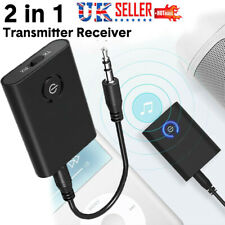 3.5mm Wireless Bluetooth 5.0 Transmitter Receiver A2DP Audio Jack Aux Adapter UK