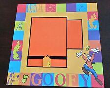"Disney Goofy Scrapbook Page 12""x12"" Layout Disneyland Shadow Box, Frame for Gift"