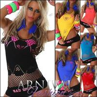 WOMENS TANK TOPS ladies casual singlet shirt SEXY STRETCHY FISHNET TOP BEACH HOT