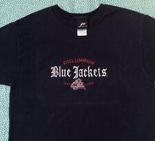 Columbus Blue Jackets T Shirt Adult L Blue NHL Hockey Sports Vintage 90s USA