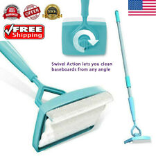 Baseboard Buddy Cleaning Mop Walk Glide Extendable Microfiber Dust Cleaner Brush