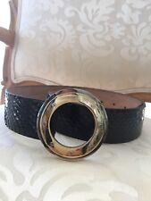 Dolce & Gabbana Black Leather Belt Metal Buckle 100cm-40 Inch