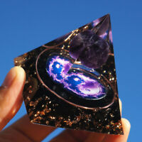 TRIPLE STONE PROTECTION Amethyst Labradorite /& Black Obsidian 8mm Size 7