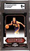 2009-10 CONTENDERS ROOKIE OF THE YEAR STEPHEN CURRY RC SGC 9