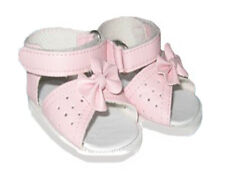 Pink Sandals with Bows Fits 18 inch American Girl Dolls