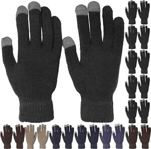 Wholesale 12 Pairs Magic Touch Screen Knit Gloves Smart Phone Tablet ONE SIZE