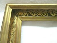 "Antique Fits 12 X 14""  Lemon Gold Gilt Picture Frame Stencil Wood Gesso Fine Art"