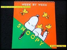 SNOOPY PEANUTS Vintage 1982 AGENDA calendario weekly Calendar Planner Organizer