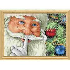 Counted Cross Stitch Kit SANTA's SECRET Christmas Dimensions Gold Collection