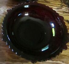 Avon 1876 Cape Cod Ruby red glass collection Fruit/Dessert bowl