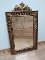 Antique Bevelled Mirror Louis XV Frame Carved gilt wood handmade France XX