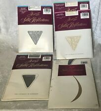 5 VINTAGE HANES SILK REFLECTIONS NEW IN PACKAGE SIZE CD PANTYHOSE