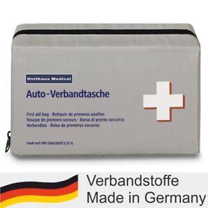 KFZ Klassik Verbandtasche HOLTHAUS Auto Verbandkasten Füllung DIN 13164 MHD 4/27