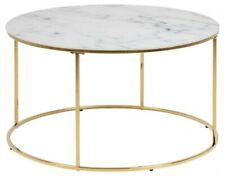 Bolton coffee table, round marble / gold y
