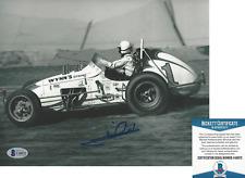 MARIO ANDRETTI INDY DRIVER SIGNED 8x10 PHOTO B INDIANAPOLIS 500 BECKETT COA BAS