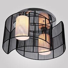 Techo Moderna Lámpara Colgante de iluminación Luz Elegante 2Luces Negro DutyFree
