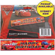 Disney Cars 2 Happy Birthday Plastic Banner as SHOWN