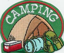 Girl Boy Cub tent CAMPING Fun Patches Crests Badges SCOUTS GUIDES trip event