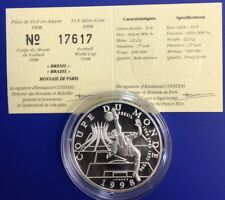 10 Francs Coupe du Monde 1998 Brésil Monnaie de Paris Certificat