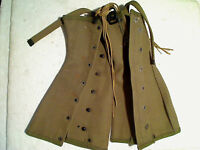WWII 1944 Froelich US Army Gaiters Leggings NOS New Old Surplus Medium W/Laces