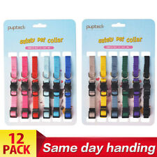 12pcs Leather Id Identification Bands Litter Puppy Pet Dog Collar