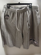 New NFL Seattle Seahawks Mens Sweat Shorts Grey Official Bottoms Size Large