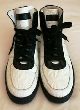 D-side Leather Hi Top Sneakers Ankle Trainers White Size uk 8 eu 42 RRP £855