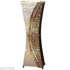WAYAN (2) Stehlampe 100 cm BALI LAMPE handgefertigt Capisscheiben Bambusringe