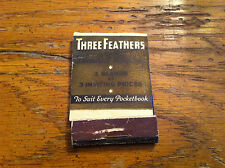 Vintage Three Feathers Blended Whiskey Oldetyme Distillers Antique Matchbook old