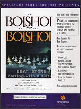 The BOLSHOI at the BOLSHOI__Original 1989 Trade print AD promo__Ballet_Swan Lake