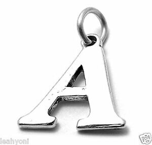 LARGE Initial letter A - Z sterling silver charms .925 x 1  Letters Pendants