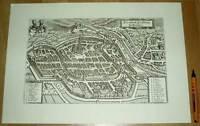 Freiburg im Breisgau alte Ansicht Merian Druck Stich 1650 (schw) Städteansicht