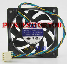 AVC DE07015T12U fan 70*70*15mm 4pin PWM 12V 0.7A #M3817 QL