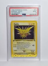PSA 9 MINT FIRST EDITION ZAPDOS HOLO FOSSIL SET COLLECTION 15/62 1ST ED FOIL