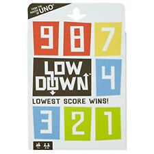 New Mattel Games Low Down Card Game Lowest Score Wins....   A7