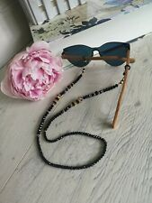 Sunglasses Glasses Spectacles Chain Beads Holder Crown KC Gold