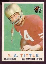 1959 TOPPS Y.A. TITTLE CARD NO:130 NEAR MINT CONDITION