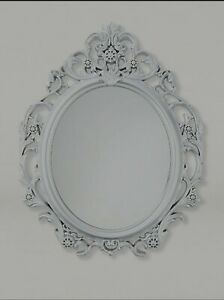 Silver baroque mirror