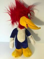 Stuffed Woody Woodpecker, Plush Warner Brothers toy, tall Woody Woodpecker, Euc